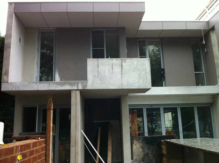 initial clean sydney for a house before the floor is installed by builder