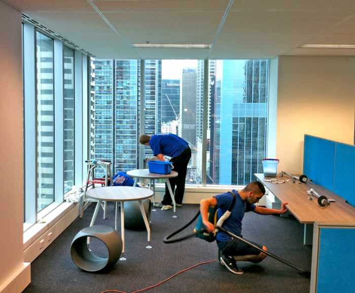 Our workers doing a builders clean in Sydney