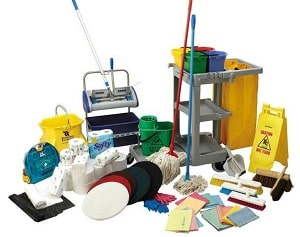 janitorial equipment used by our cleaning company