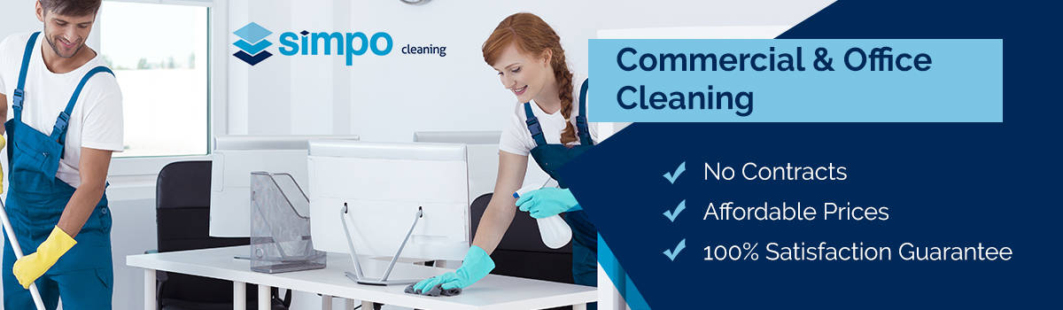 the simpo commercial office cleaning banner