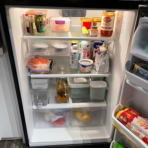 A clean and well organised refrigerator